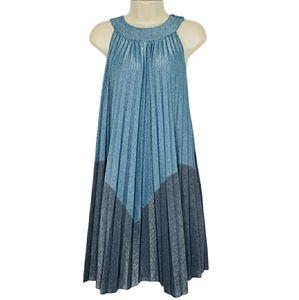 Free People Metallic Jewel Neck Dress NWT